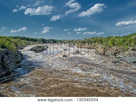 Washington Great Falls View Landscape