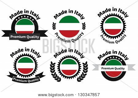 Made In Italy Badge Set