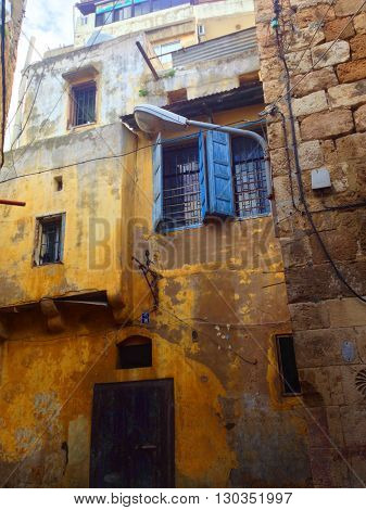 Old Arabic  Residential building at Tripoli, Lebanon