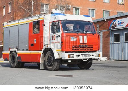 Kamaz 43253. Modern Russian Fire Engine