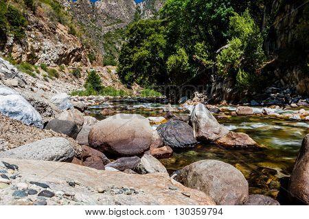 Redwood Creek, Highway 180, Kings Canyon National Park, California, Usa