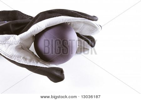 Racquetball Glove And Ball