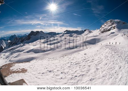 Winter Landscape In The Zugspitze, Germany