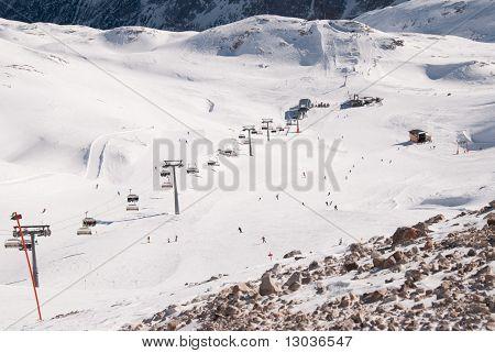 Ski Lift In The Zugspitze, Germany