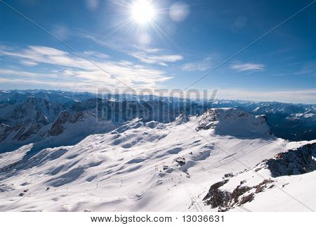 Winterlandscape In The Zugspitze, Bavary, Germany
