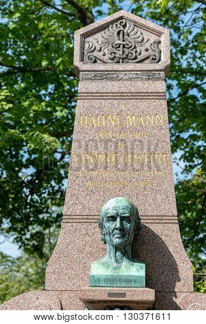 Paris, France - May 2, 2016: Christian Friedrich Samuel Hahnemann Homeopathy Founder Grave In Pere-l