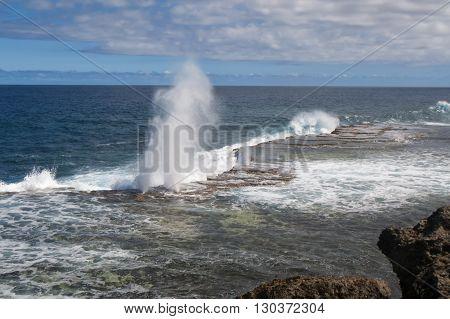 Tonga Blow Holes