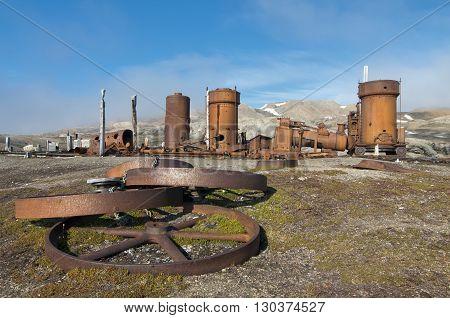 An Abondoned Mining Settlement In Svalbard Spitzbergen