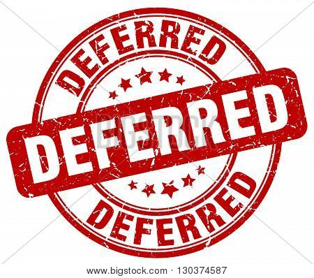 deferred red grunge round vintage rubber stamp