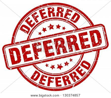 deferred red grunge round vintage rubber stamp