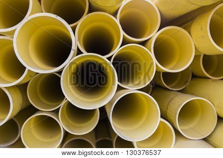 PVC pipes for electric conduit yellow color