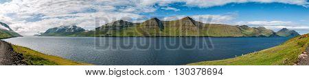 Far Oer Danmark Mykines Island Panorama
