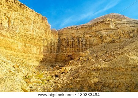 The rocks of Negev desert are famous for their beauty and amazing colors Israel.
