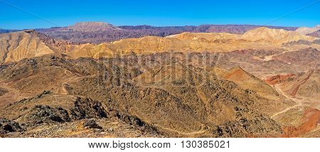 Zefahot Mount is the best choisy for the easy hike and overlook the unique landscape Eilat.