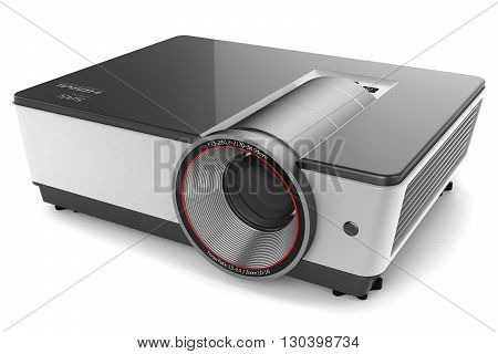 projector isolated on white background 3 d