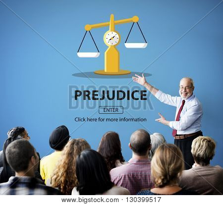 Partiality Prejudice Unfairness Help Victims Bias Concept