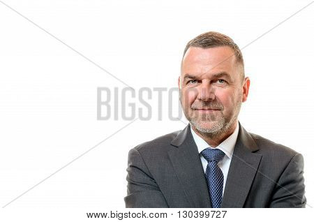 Stylish Businessman With A Friendly Smile