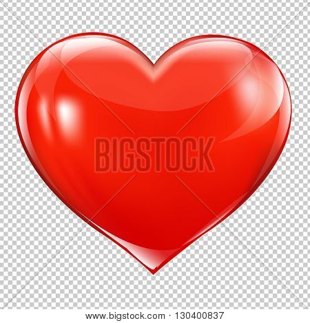 Red Heart Symbol, Isolated on Transparent Background, With Gradient Mesh, Vector Illustration