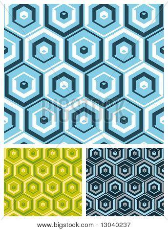 Seamless hexagon wallpaper background