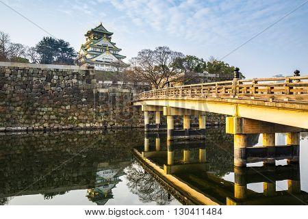 Osaka Castle Landmark Of Osaka In Japan