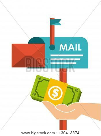 mail marketing design, vector illustration eps10 graphic