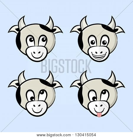 Cows With Different Emotions