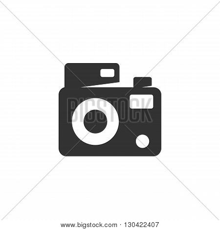 Camera Icon. Camera logo. Vector design element. Abstract emblem, graphic design concept. Logotype element for template. Vector illustration on white background - stock vector