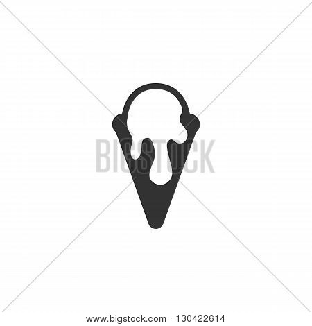 Ice cream Icon. Ice cream logo. Vector design element. Abstract emblem, graphic design concept. Logotype element for template. Vector illustration on white background - stock vector