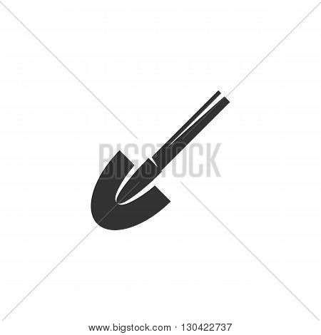 Shovel Icon. Shovel logo. Vector design element. Abstract emblem, graphic design concept. Logotype element for template. Vector illustration on white background - stock vector