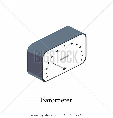 barometer for measuring atmospheric pressure. Isometric vector illustration