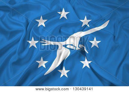 Waving Flag of Corpus Christi Texas, with beautiful satin background