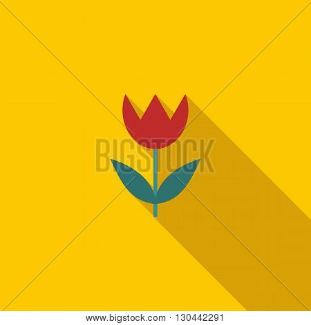 Macro lens mode icon in flat style on a yellow background