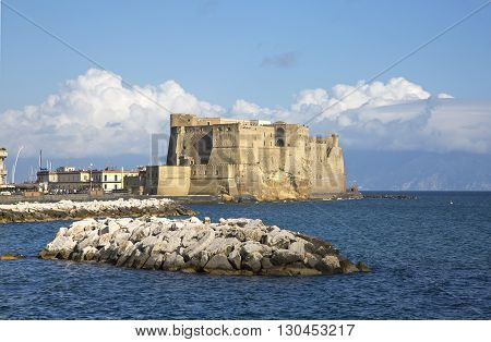 View of Castel dell'Ovo the oldest standing fortification in Naples