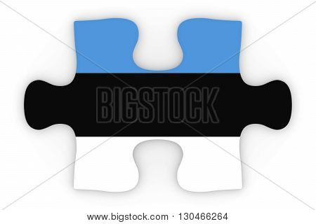 Estonian Flag Puzzle Piece Top Down Orthographic 3D Illustration