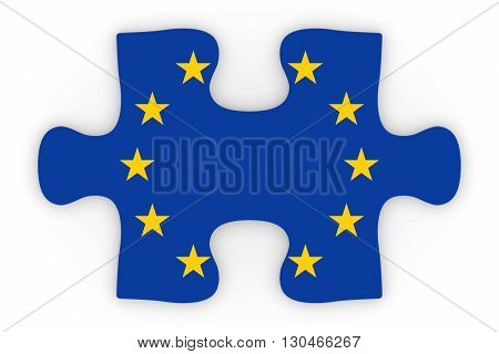 European Union Flag Puzzle Piece Top Down Orthographic 3D Illustration