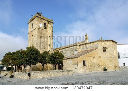 Aldea del Cano Church of St. Martin of Tours Caceres Spain autonomous community of Extremadura poster