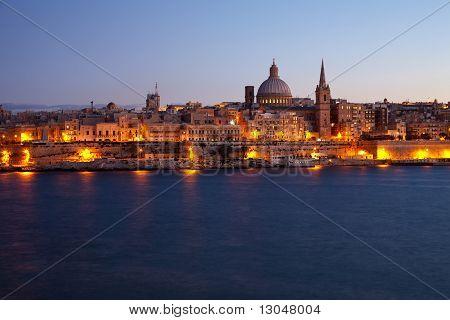 Old Valletta In Dusk