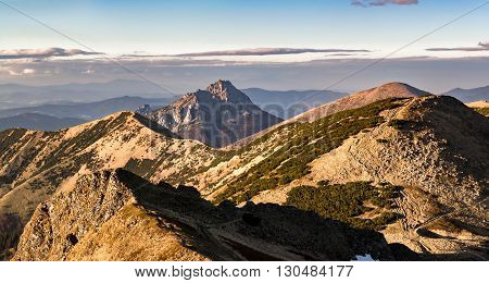 Amazing Evening On Mountain Ridge - Slovakia, Europe