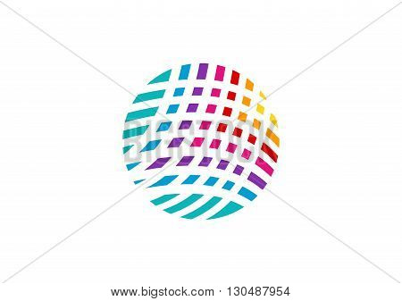 global element logo, abstract circle sphere elements symbol icon vector design.