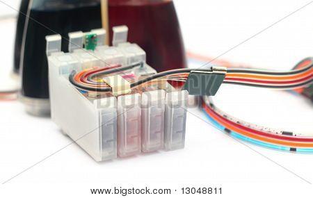 Auto refillable printer cartridge