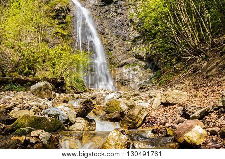 Sutovsky Waterfall In Spring Season - Slovakia, Europe