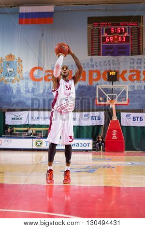 Bc Krasnye Krylia Guard Bracey Wright (34) Shoots A Free Throw