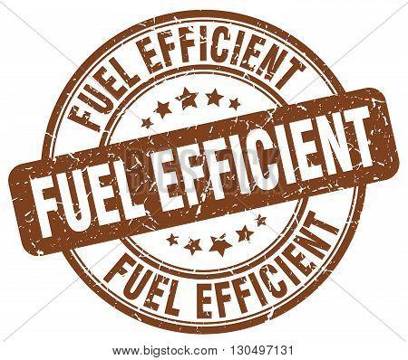 fuel efficient brown grunge round vintage rubber stamp