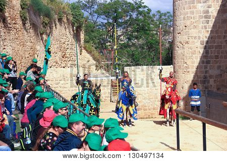 Theatrical Knight Tournament In Old Acre