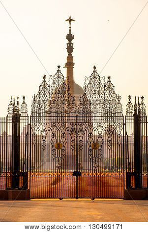 Rashtrapati Bhavan is the official home of the President of India.The capital of India Delhi. poster