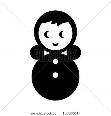 Roly-Poly doll ( shade picture ) on white