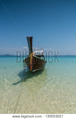 Thai Boat Longtail Boat On The Sea Beach