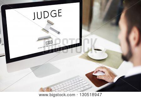 Judge Justice Judgment Legal Fairness Law Gavel Concept