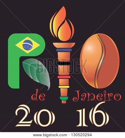 Abstract logo Rio  vector Brasilia 2016, vector