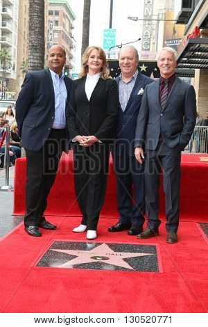 LOS ANGELES - MAY 19:  unidentified, Deidre Hall, Ken Corday, Greg Meng at the Deidre Hall Hollywood Walk of Fame Ceremony at Hollywood Blvd. on May 19, 2016 in Los Angeles, CA